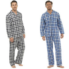 New Mens Traditional Flannel Cotton Pyjamas Set Sleeping Night Gift PJ M-XXL