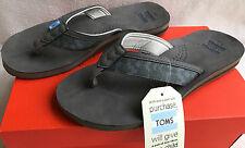TOMS Verano Flip Flop 10005787 Ash Olive Beach Flip-Flops Sandals Men's 10 new