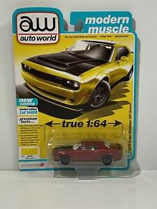 Chase Model 2018 Dodge Challenger SRT Demon 1:64 Scale Auto World AW64282B