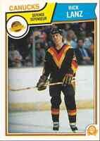 1983-84 O-Pee-Chee Rick Lanz Vancouver Canucks #353