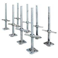 "MetalTech 24"" Scaffolding Leveling Jack Steel Plate Base Adjustable Screw 8 Pack"