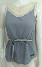 PEPE JEANS lace detail cotton top size XS --BRAND NEW-- 100% Cotton belted