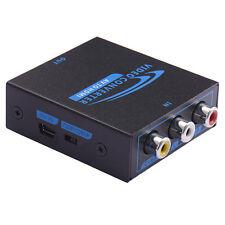 Mini Composite AV2HDMI Adapter Converter AV CVBS 3RCA to HDMI 1080P Iron Box A