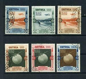 Eritrea #C1-C6 (ER515) comp Airs Colonial Arts exhibition, U, FVF, CV$160.00
