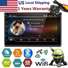 "7"" Android 5.1 Double 2 Din Car Stereo GPS Nav 3G WIFI BT FM Radio MP5 Player US"