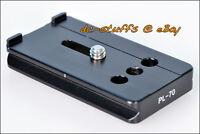 Benro PL70 Quick Release Lens Plate fit Tripod Ball Head Gimbal MeFoto ArcaSwiss