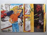 TELEKOM Telefonkarte 12 DM Christoph Bersch Comic Telefonhäuschen Vandalismus