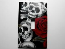 Day of the Dead Decorated Single Light Switch Plate Cover