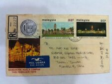 Malaysia 1972 Kuala Lumpur as City Status FDC with 2 countires chops ! rare