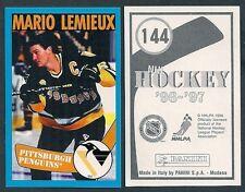 1996-97 Euro Panini Hockey Sticker #144 Mario Lemieux