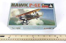 1968 Monogram, Vintage Biplane Army Fighter,  Hawk P-6E 1:72 Plane, PA208 70