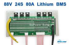86.4V 88V 92.4V 24S 80A 24x 3.6V 3.7V 4.2V Lithium Li-ion Li-Po Battery PCB BMS