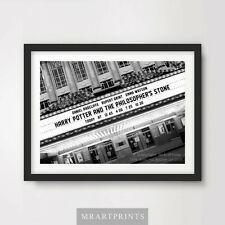 HARRY POTTER PHILOSOPHERS STONE Art Print Poster Cinema Sign Marquee Premiere