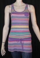 ESPRIT Taille XS - 34 Superbe haut long top tee shirt débardeur tunique violet r