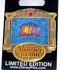 LE Disney Pin✿Sleeping Beauty Aurora Castle Walk Through Burning Spinning Wheels