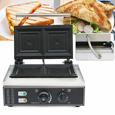Commercial Electric Sandwich Presse Grill Sandwich Toaster Panini Waffle Maker