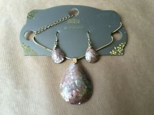 BNWT M&S Gold Plated Necklace and Earring Set