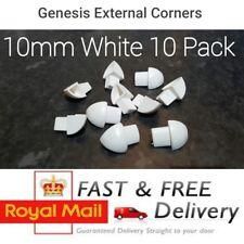 Genesis COIN PIECES 10 mm en plastique Blanc Carrelage bordure externe coin ETR 10/Pack