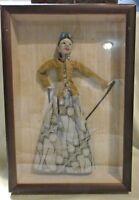 Framed Shadow Box Puppet/Doll - Indonesia, Bali, Burmese Asian Art