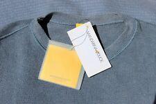 New - MANDARINA DUCK Linen Knitted Sleeveless Tunic Top - Blue Size M