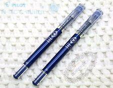 2 pcs Pilot HI-TEC-C Maica 0.3mm roller ball pen gel BLUE BLACK ink