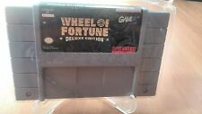 WHEEL OF FORTUNE DELUXE EDITION  SUPER NINTENDO US