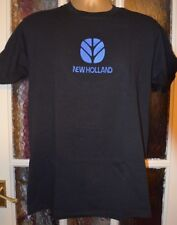 NEW HOLLAND T SHIRT FRUIT OF THE LOOM HEAVY  EMBROIDERED IN UK( NOT PRINTED