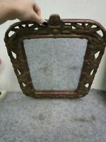 Vintage Mirror With Carved Asian Style Frame