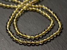 Fil 33cm 91pc env - Perles de Pierre - Topaze Jaune Citrine Boules 3-4mm - 87411