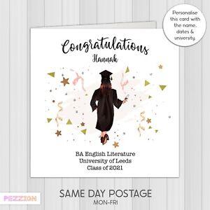 Personalised Graduation Congratulations Card Daughter Granddaughter University