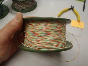 Mil-W16878E 26ga 26awg White Red Green Yellow Stripe Stranded Teflon Wire 100ft