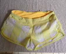 Lululemon Plaid Shorts Size 6 Yellow White