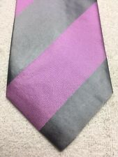 CHARLES TYRWHITT MENS TIE PINK AND GRAY STRIPED 3.75 X 60