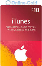 iTunes 10 US Dollar Prepaid Guthaben Karte - $10 USD Apple Store USA Gift Card