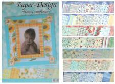 Design-Papier Sets Scrapbooking-Papier,  130 g/m²,  je 7 Bogen,  23,5 x 33,5 cm