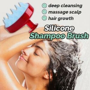 Soft Silicone Hair Scalp Massage Brush Shampoo Shower Brush Bath