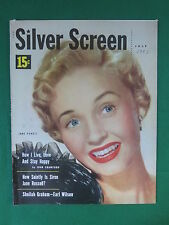 SILVER SCREEN Magazine JANE POWELL Cover July 1953 Vol. 23, No. 9