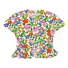 Laura Biagiotti Junior Floral Girls Top | Vintage High End Kids Fashion Designer
