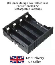 18650 Battery Clip Holder Case Mounting Slot Box For 4x Separate 3.7V Cells Pack