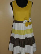 Women's Junior's RYU Mustard & Yellow Stripe Dress NWT Size LARGE