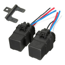 2PCS DC 12V 40A 4 PIN Automobile Relay Waterproof Integrated Socket AU RM6