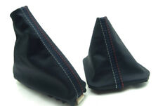Shift Boot and E Brake Boot Set Real Leather For BMW E46 99-04 M3 Style Stitch