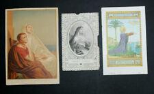 Lot 3 Images pieuses (dont une dentelle / lace) Sainte Monique et Saint Augustin