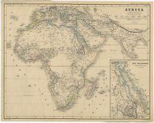 Antique Map of Africa by Kiepert (c.1870)