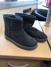 Be You Grey Faux Fur Suede Snugg Ankle Boot Size 5 Euro 38 NEW Slouch Winter