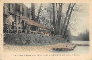 CPA 94 LE TOUR DE MARNE DE CHAMPIGNY A CHENNEVIERES L'ECU DE FRANCE