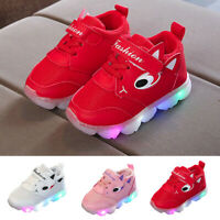 Toddler Baby Kids Girls LED Light Shoes Soft Luminous Outdoor Sport Shoes Boots