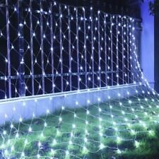 White 4m*6m 880 LED Fairy Lights Curtain String Net Mesh Wedding Party Outdoor