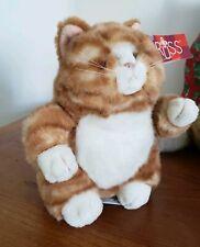 Russ Prudence orange white striped cat kitten plush stuffed 9'' with TAGS