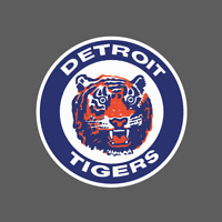 Detroit Tigers Vintage Logo 1964-1993 Sticker Vinyl Vehicle Laptop Decal